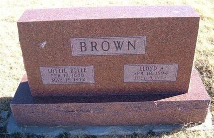 BROWN, LLOYD A - Baca County, Colorado | LLOYD A BROWN - Colorado Gravestone Photos