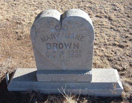 BROWN, MARY JANE - Baca County, Colorado | MARY JANE BROWN - Colorado Gravestone Photos