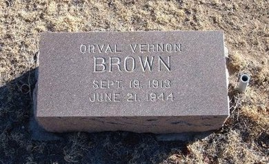 BROWN, ORVAL VERNON - Baca County, Colorado | ORVAL VERNON BROWN - Colorado Gravestone Photos