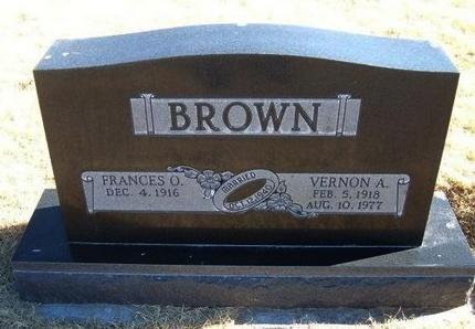 BROWN, VERNON A - Baca County, Colorado | VERNON A BROWN - Colorado Gravestone Photos