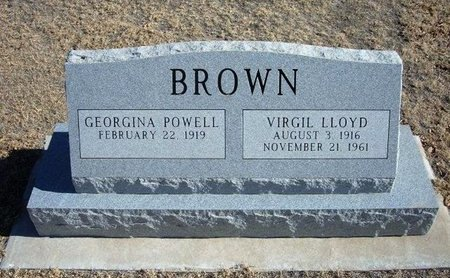 BROWN, VIRGIL LLOYD - Baca County, Colorado | VIRGIL LLOYD BROWN - Colorado Gravestone Photos