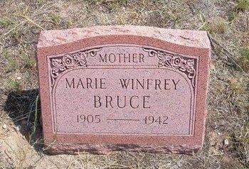 WINFREY BRUCE, MARIE - Baca County, Colorado   MARIE WINFREY BRUCE - Colorado Gravestone Photos