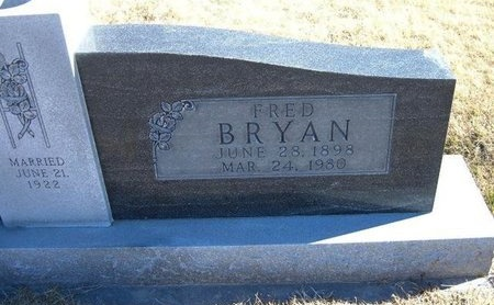 BRYAN, FRED - Baca County, Colorado | FRED BRYAN - Colorado Gravestone Photos