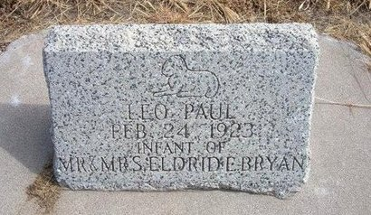 BRYAN, LEO PAUL - Baca County, Colorado | LEO PAUL BRYAN - Colorado Gravestone Photos
