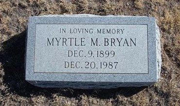 BRYAN, MYRTLE M - Baca County, Colorado | MYRTLE M BRYAN - Colorado Gravestone Photos