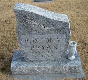 BRYAN, ROSCOE V - Baca County, Colorado | ROSCOE V BRYAN - Colorado Gravestone Photos