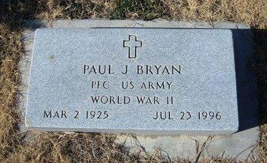 BRYAN (VETERAN WWII), PAUL JAMES - Baca County, Colorado | PAUL JAMES BRYAN (VETERAN WWII) - Colorado Gravestone Photos
