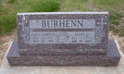 BURHENN, VIRGIE ARMILDA - Baca County, Colorado   VIRGIE ARMILDA BURHENN - Colorado Gravestone Photos