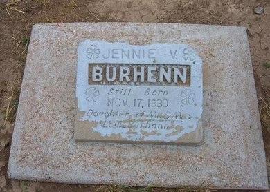 BURHENN, JENNIE V - Baca County, Colorado | JENNIE V BURHENN - Colorado Gravestone Photos