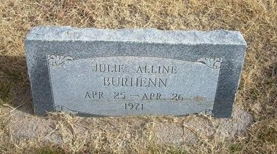 BURHENN, JULIE ALLINE - Baca County, Colorado | JULIE ALLINE BURHENN - Colorado Gravestone Photos