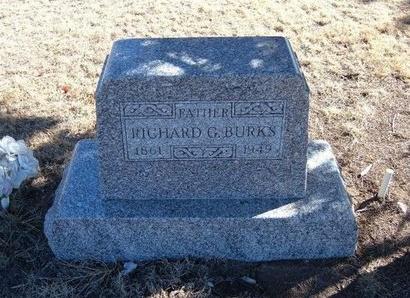 BURKS, RICHARD G - Baca County, Colorado   RICHARD G BURKS - Colorado Gravestone Photos