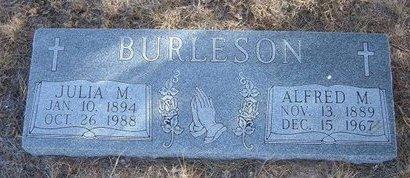BURLESON, ALFRED MARION - Baca County, Colorado | ALFRED MARION BURLESON - Colorado Gravestone Photos