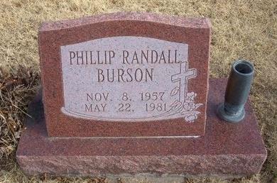 BURSON, PHILLIP RANDALL - Baca County, Colorado   PHILLIP RANDALL BURSON - Colorado Gravestone Photos