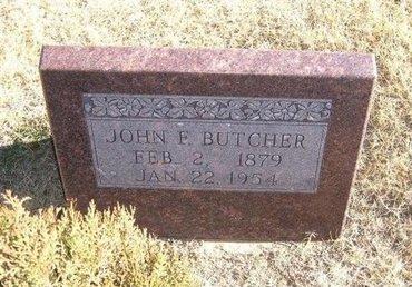 BUTCHER, JOHN F - Baca County, Colorado | JOHN F BUTCHER - Colorado Gravestone Photos