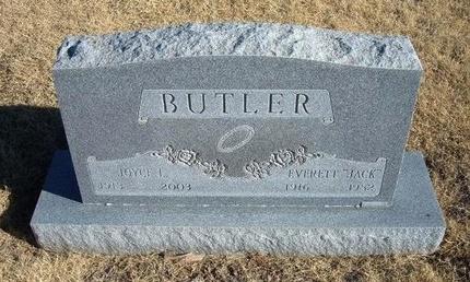 "BUTLER, EVERETT ""JACK"" - Baca County, Colorado   EVERETT ""JACK"" BUTLER - Colorado Gravestone Photos"