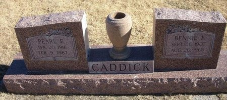 CADDICK, BENNIE F - Baca County, Colorado   BENNIE F CADDICK - Colorado Gravestone Photos