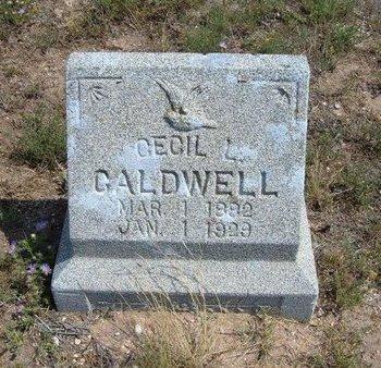 CALDWELL, CECIL L - Baca County, Colorado   CECIL L CALDWELL - Colorado Gravestone Photos