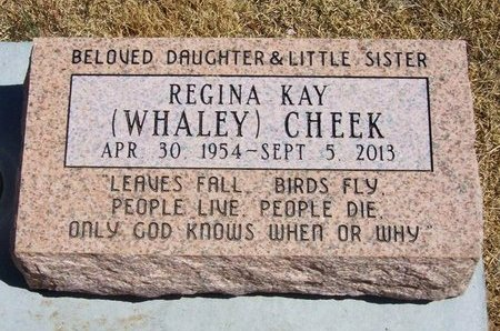 WHALEY CHEEK, REGINA KAY - Baca County, Colorado | REGINA KAY WHALEY CHEEK - Colorado Gravestone Photos