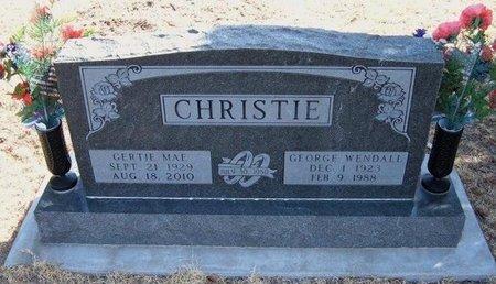 CHRISTIE, GEORGE WENDALL - Baca County, Colorado | GEORGE WENDALL CHRISTIE - Colorado Gravestone Photos