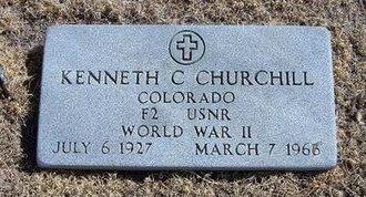 CHURCHILL (VETERAN WWII), KENNETH CHARLES - Baca County, Colorado | KENNETH CHARLES CHURCHILL (VETERAN WWII) - Colorado Gravestone Photos