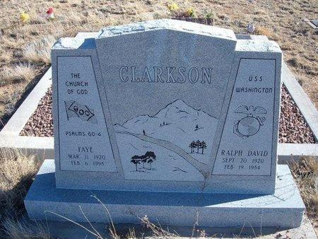 CLARKSON, FAYE - Baca County, Colorado | FAYE CLARKSON - Colorado Gravestone Photos
