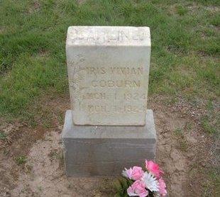 COBURN, IRIS VIVIAN - Baca County, Colorado | IRIS VIVIAN COBURN - Colorado Gravestone Photos