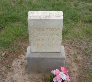 COBURN, IRIS VIVIAN - Baca County, Colorado   IRIS VIVIAN COBURN - Colorado Gravestone Photos