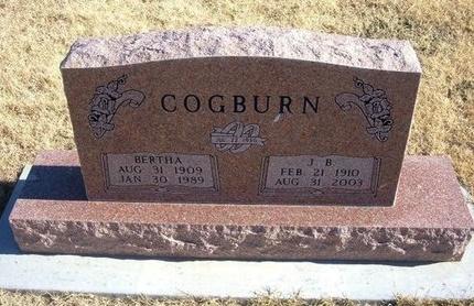 COGBURN, BERTHA - Baca County, Colorado | BERTHA COGBURN - Colorado Gravestone Photos