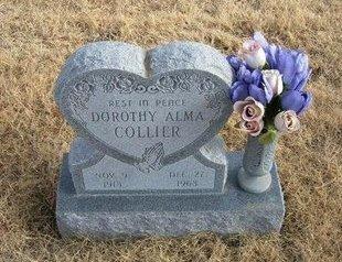 COLLIER, DOROTHY ALMA - Baca County, Colorado | DOROTHY ALMA COLLIER - Colorado Gravestone Photos