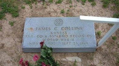 COLLINS (VETERAN WWII), JAMES C - Baca County, Colorado | JAMES C COLLINS (VETERAN WWII) - Colorado Gravestone Photos