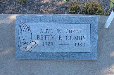 COMBS, BETTY E - Baca County, Colorado   BETTY E COMBS - Colorado Gravestone Photos