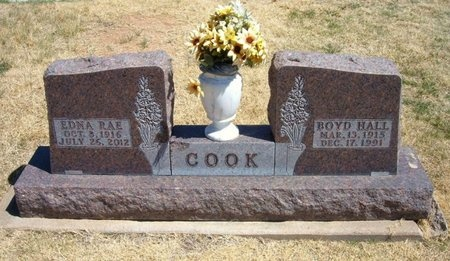 COOK, EDNA RAE - Baca County, Colorado | EDNA RAE COOK - Colorado Gravestone Photos
