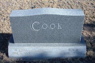 COOK, BEN H - Baca County, Colorado | BEN H COOK - Colorado Gravestone Photos