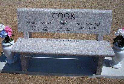 COOK, ERMA LAVERN - Baca County, Colorado | ERMA LAVERN COOK - Colorado Gravestone Photos