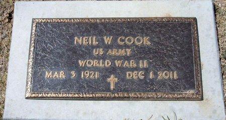COOK (VETERAN WWII), NEIL WALTER - Baca County, Colorado | NEIL WALTER COOK (VETERAN WWII) - Colorado Gravestone Photos