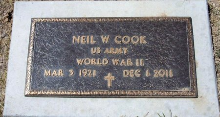 COOK (VETERAN WWII), NEIL WALTER - Baca County, Colorado | NEIL WALTER COOK (VETERAN WWII) - Colorado Gravestone Photos