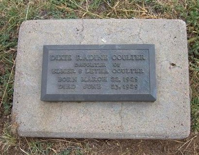COULTER, DIXIE RADINE - Baca County, Colorado | DIXIE RADINE COULTER - Colorado Gravestone Photos