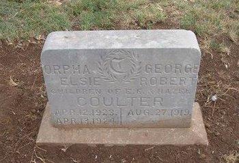 COULTER, ORPHA ELSIE - Baca County, Colorado   ORPHA ELSIE COULTER - Colorado Gravestone Photos