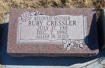 CULP CRESSLER, RUBY - Baca County, Colorado | RUBY CULP CRESSLER - Colorado Gravestone Photos