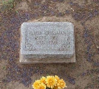 CRISSMAN, ELMER - Baca County, Colorado | ELMER CRISSMAN - Colorado Gravestone Photos