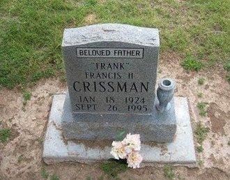 "CRISSMAN, FRANCIS HAROLD ""FRANK"" - Baca County, Colorado | FRANCIS HAROLD ""FRANK"" CRISSMAN - Colorado Gravestone Photos"