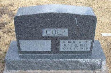 CULP, JR, GEORGE R - Baca County, Colorado   GEORGE R CULP, JR - Colorado Gravestone Photos