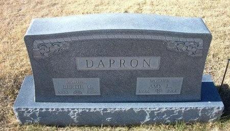 MENEFEE DAPRON, AMY LUCRETIA - Baca County, Colorado | AMY LUCRETIA MENEFEE DAPRON - Colorado Gravestone Photos