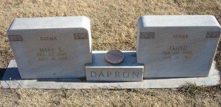 DAPRON, FLOYD - Baca County, Colorado | FLOYD DAPRON - Colorado Gravestone Photos