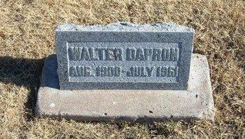 DAPRON, WALTER - Baca County, Colorado   WALTER DAPRON - Colorado Gravestone Photos