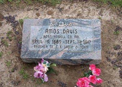 DAVIS, AMOS - Baca County, Colorado | AMOS DAVIS - Colorado Gravestone Photos