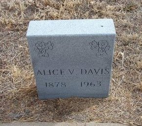 DAVIS, ALICE VIENNA - Baca County, Colorado | ALICE VIENNA DAVIS - Colorado Gravestone Photos