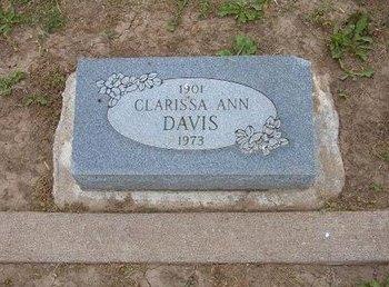 DAVIS, CLARISSA ANN - Baca County, Colorado | CLARISSA ANN DAVIS - Colorado Gravestone Photos