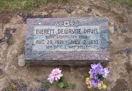 DAVIS, EVERETT DEWAYNE - Baca County, Colorado | EVERETT DEWAYNE DAVIS - Colorado Gravestone Photos