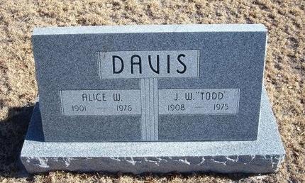 "DAVIS, J W ""TODD"" - Baca County, Colorado | J W ""TODD"" DAVIS - Colorado Gravestone Photos"